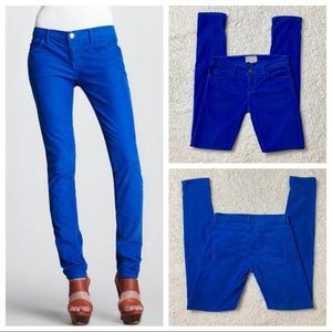 Current/Elliott The Skinny Electric Blue Cord Pant